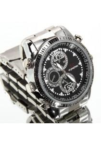 SC Waterproof Spy Pinhole Stainless Steel Watch Camera