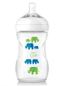 Philips AVENT Natural Exclusive Elephant Design Bottle Blue and Green SCF627/17