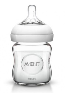 Philips AVENT Natural Glass Bottle 4oz SCF671/17