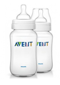 Twin Pack Philips AVENT Classic Bottle 330ml SCF686/27