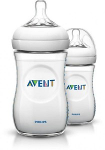 Twin Pack Philips AVENT Natural Bottle 260ml SCF693/27