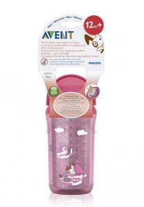Philips AVENT Insulated Straw Cups 260ml SCF766/00 Pink