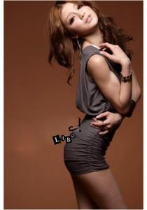 Fashion Body Hugging Dress - SD210859 (Khaki)
