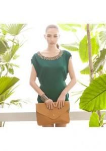 Elegant Round Neck Dress - SD213320 (Green)