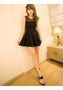 Sweet Lace Dress - SD216826 (Black)