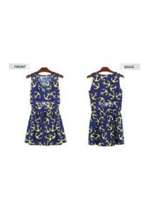 Stylish Anchor Dress - SD73219 (Blue)