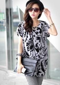 Fashion Loose Dress - SD7398 (Grey)