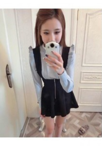 Stylish Vivi Fashion Dress - SD76480 (Black)