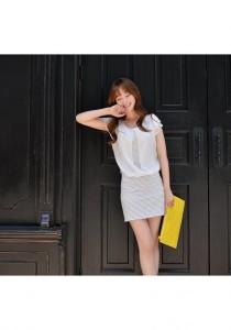 Korean Fashion One Piece Dress - SD77159 (Stripe)