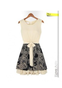 European Fashion Dress (With Belt) - SD78049