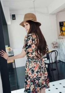 Korean Fashion Flora Dress - SD93138