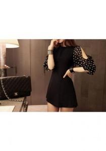 Korean Stylish Dress - SD9614 (Black)