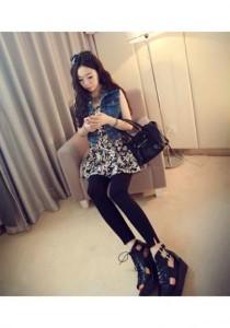 Stylish Flora Dress - SD98443 (Black)
