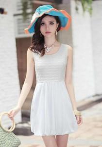 Stylish Dress - SD98992 (White)