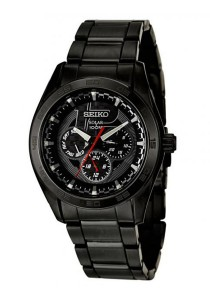 Seiko Men's Stainless Steel Watch (Black)
