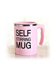 Self Stirring Mug Standard Steel (Pink)