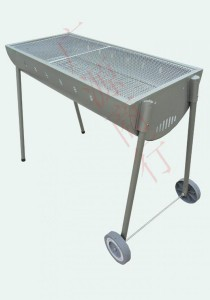 Semi-Circul BBQ Stove with 2 Wheels