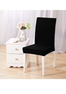 Set of 2: Elastic Fit Dining Chair Cover (Black)
