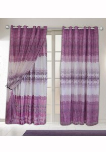Set of 2-Piece Essina Lavinia  2 Layer Eyelet Curtain