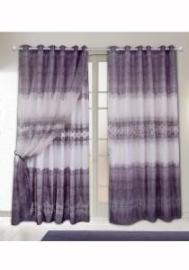 Set of 2-Piece Essina Leonora 2 Layer Eyelet Curtain