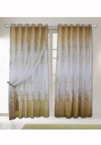 Set of 2-Piece Essina Theodora  2 Layer Eyelet Curtain