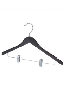 Set of 6 Wooden Anti-Theft Hanger with Clips
