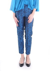 Shafa Designs Two-side Songket Pants in Blue and Black