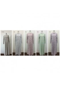 Fashion Floral Jubah (SH31127)