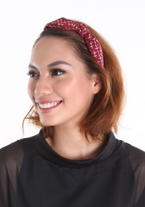 Chic Chic L Hair Band KMA 10313 1114 (Burgundy)