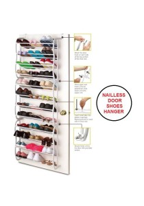 Nailless Door Hanging Shoes Rack Organizer Hanger (8 Layer)