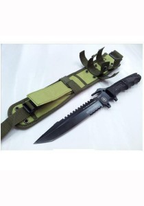 Authentic 911 Dark Operation Camping Fighting Survival Outdoor Knife