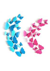 3D Butterfly Home Decor DIY Art Design 12 Pcs - Rose Tyrien Pink