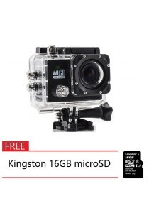"SJ6000 12MP Full HD 1080P 2.0"" LCD Screen WiFi Sport DV Camera + Kingston 16GB microSD"