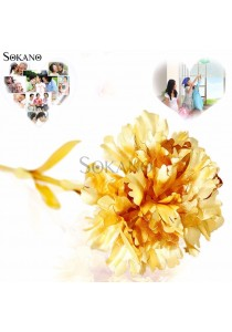 SOKANO 24K Gold Foil Flower Best Gift Valentine Day Mother Day (With Cert and Gift Box)