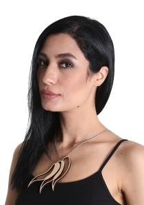 Salute Salma Ombak III Wood Necklace