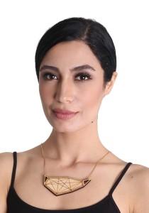 Salute Salma Avantgarde O Wood Necklace