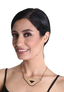 Salute Salma Avantgarde H Wood Necklace