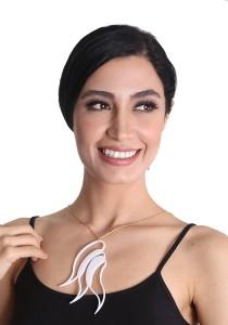 Salute Salma Ombak II Acrylic Necklace