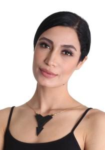 Salute Salma Avantgarde E Acrylic Necklace
