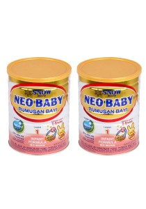 2 units Snow Neo Baby Infant Formula Step 1 (0-9months) 900g
