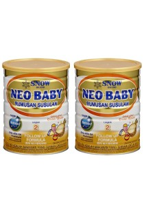 2 units Snow Neo Baby Follow Up Formula Step 2 (6-18months) 900g