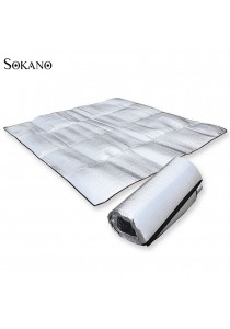 SOKANO 200cm x 200cm Extra Large Size Outdoor Waterproof Double Sided Aluminium Foil Mat (Free Pouch)