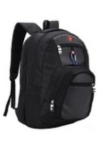 Sokano Cross L069 Double Strap Laptop Backpack (Black)
