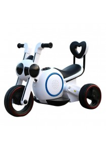 Sokano T002 Aerospace Rechargeable Motorized Tricycle With Music & LED Flash (White)