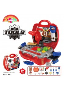 SOKANO TOY 8011 Junior Tools Engineer Kids Role Play Pretend - Red