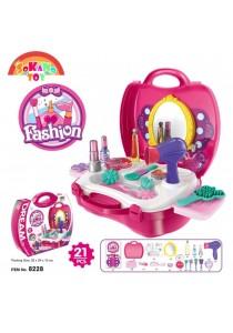 SOKANO TOY 8228 Fashion Girl Beauty Make Up Kids Role Play Pretend -Pink