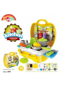 SOKANO TOY 8311 Kitchen Cooking Food Kids Role Play Pretend -Yellow