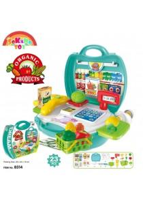 SOKANO TOY 8314 Organic Food Cashier Kids Role Play Pretend -Mint Green