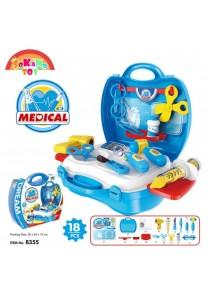 SOKANO TOY 8355 Medical Doctor Nurse Aid Food Kids Role Play Pretend - Blue