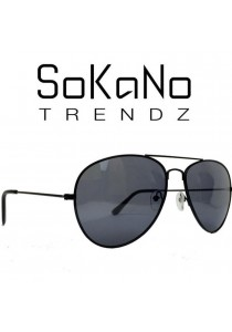 SoKaNo Trendz 3026 Unisex Casual Sunglasses Black Frame with Grey Lens (Free Sunglasses Case)